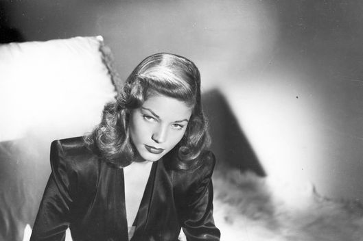 Publicity photo of American actress Lauren Bacall.  ca.1945.