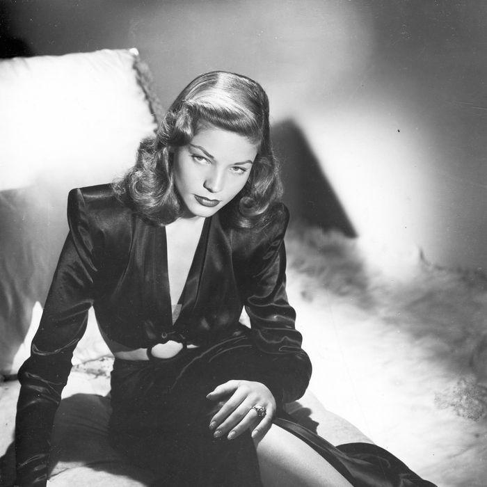 Publicity photo of American actress Lauren Bacall. ca.1945.