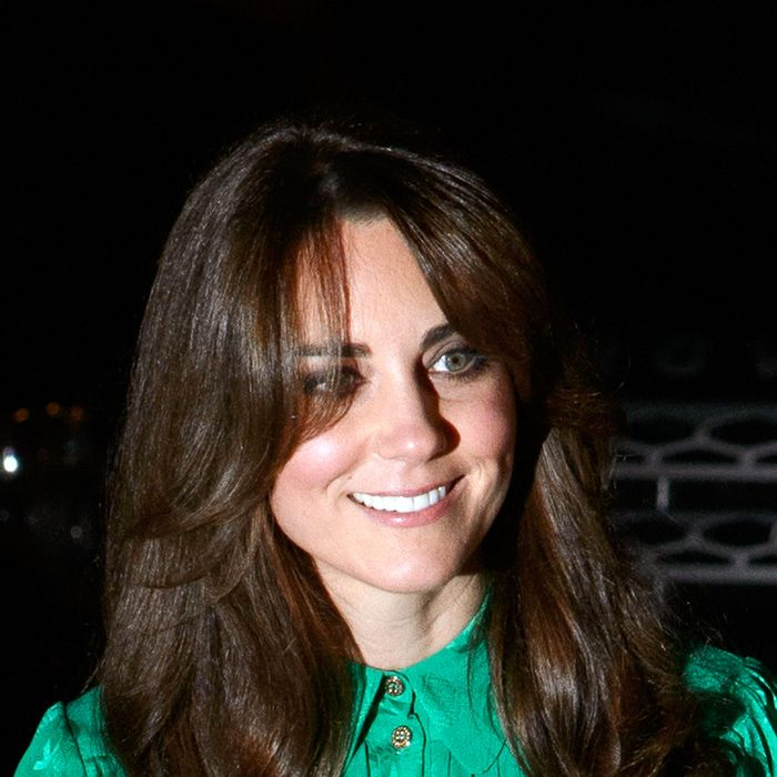 Meet Kate's new fringe.