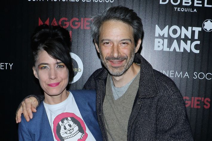 Adam Horovitz and Kathleen Hanna at the premiere of <i>Maggie's Plan</i>.