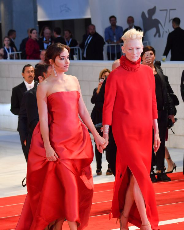 Tilda Swinton and Dakota Johnson at the Venice Film Festival.
