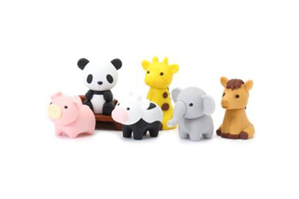 Iwako Japanese Puzzle Take Apart Erasers Zoo Animals Set of 7