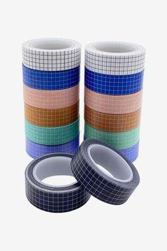 14 Rolls Grid Washi Tape Set