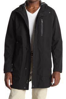 Andrew Marc Beckett Water-Resistant Hooded Jacket