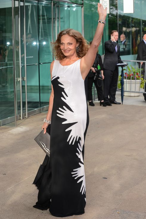 NEW YORK, NY - JUNE 04:  Designer Diane von Furstenberg enters the 2012 CFDA Fashion Awards at Alice Tully Hall on June 4, 2012 in New York City.  (Photo by Ray Tamarra/Getty Images)