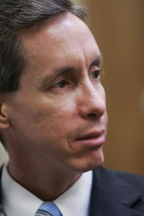 ST. GEORGE, UT - SEPTEMBER 25:  Warren Jeffs looks over at the jury during his trial September 25, 2007 in St. George, Utah. Jeffs, an accused polygamist and head of the breakaway Mormon sect, the Fundamentalist Church of Jesus Christ of Latter Day Saints, is being charged on two counts as an accomplice rape, related to the alleged coercion in the marriage and rape of a 14-year-old and a 19-year-old in 2001. The jury is still in deliberations after a juror was excused and replaced by an alternate.  (Photo by Douglas C. Pizac-Pool/Getty Images) *** Local Caption *** Warren Jeffs