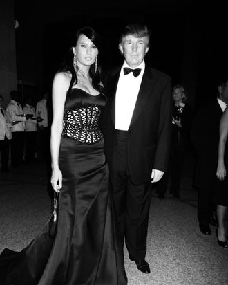 Donald and Melania Trump at the 2004 Met Gala.