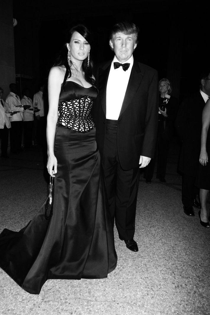 Donald and Melania Trump at the 2004 Met Gala.