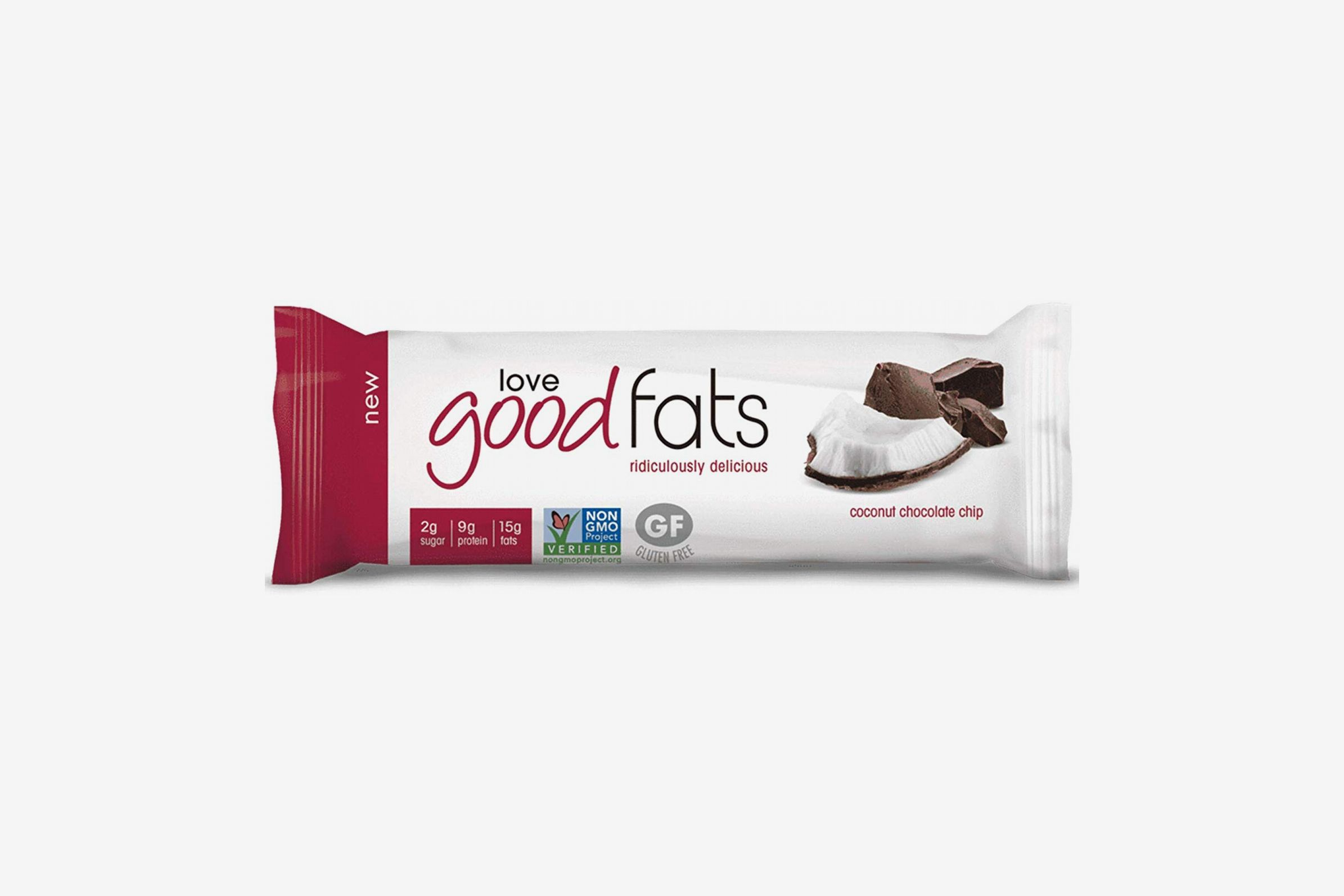 Love Good Fats Bars, Coconut Chocolate Chip - Box of 12