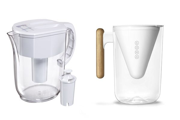 Brita water filter pitcher and Soma water filter pitcher