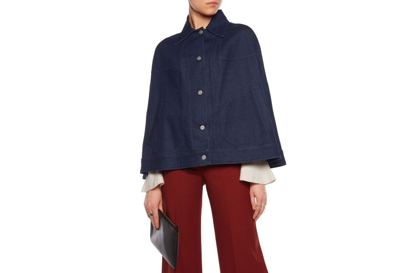 See by Chloe Denim Poncho