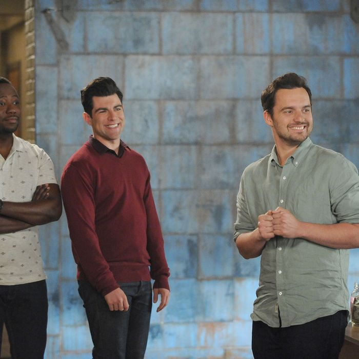 NEW GIRL: L-R: Lamorne Morris, Max Greenfield and Jake Johnson in the