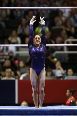 SAN JOSE, CA - JULY 01:  Jordyn Wieber competes on the uneven bars during day 4 of the 2012 U.S. Olympic Gymnastics Team Trials at HP Pavilion on July 1, 2012 in San Jose, California.  (Photo by Ezra Shaw/Getty Images) *** Local Caption *** Jordyn Wieber