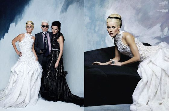 a 560x368 Karl Lagerfeld Convinced Daphne Guinness and Amanda Harlech to Swap Identities for a Photo Shoot