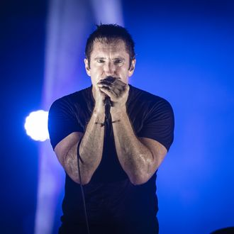 SAINT-CLOUD, FRANCE - AUGUST 24: Trent Reznor from Nine Inch Nails performs at Rock en Seine on August 24, 2013 in Saint-Cloud, France. (Photo by David Wolff - Patrick/Redferns via Getty Images)
