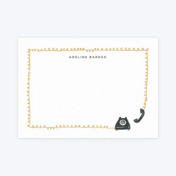 Phone a Friend Personalised Notecard Set