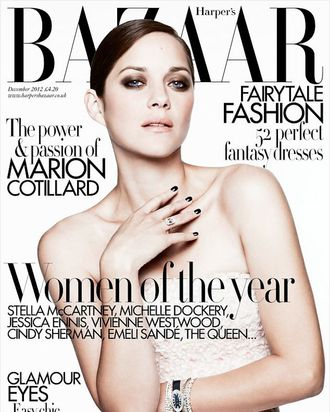 Marion Cotillard for Harper's Bazaar UK.