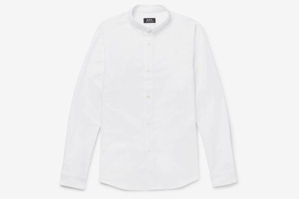 APC Slim-Fit Button-Down Collar Cotton Oxford Shirt