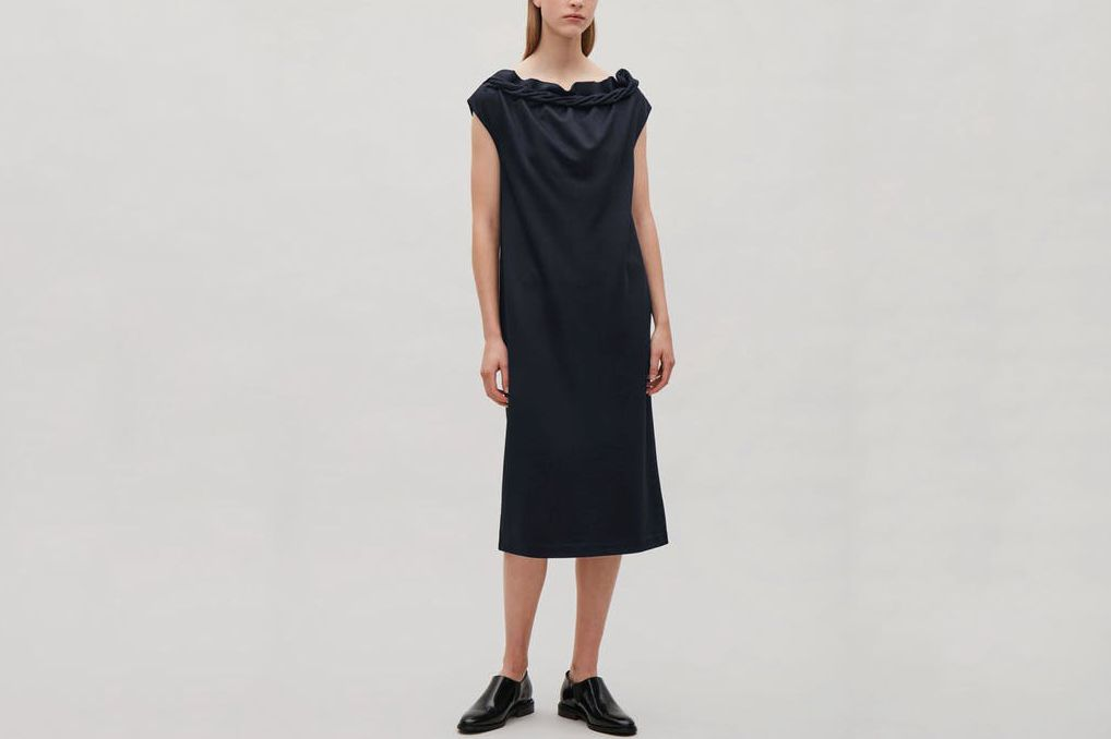 COS Jersey Dress With Twisted Neck