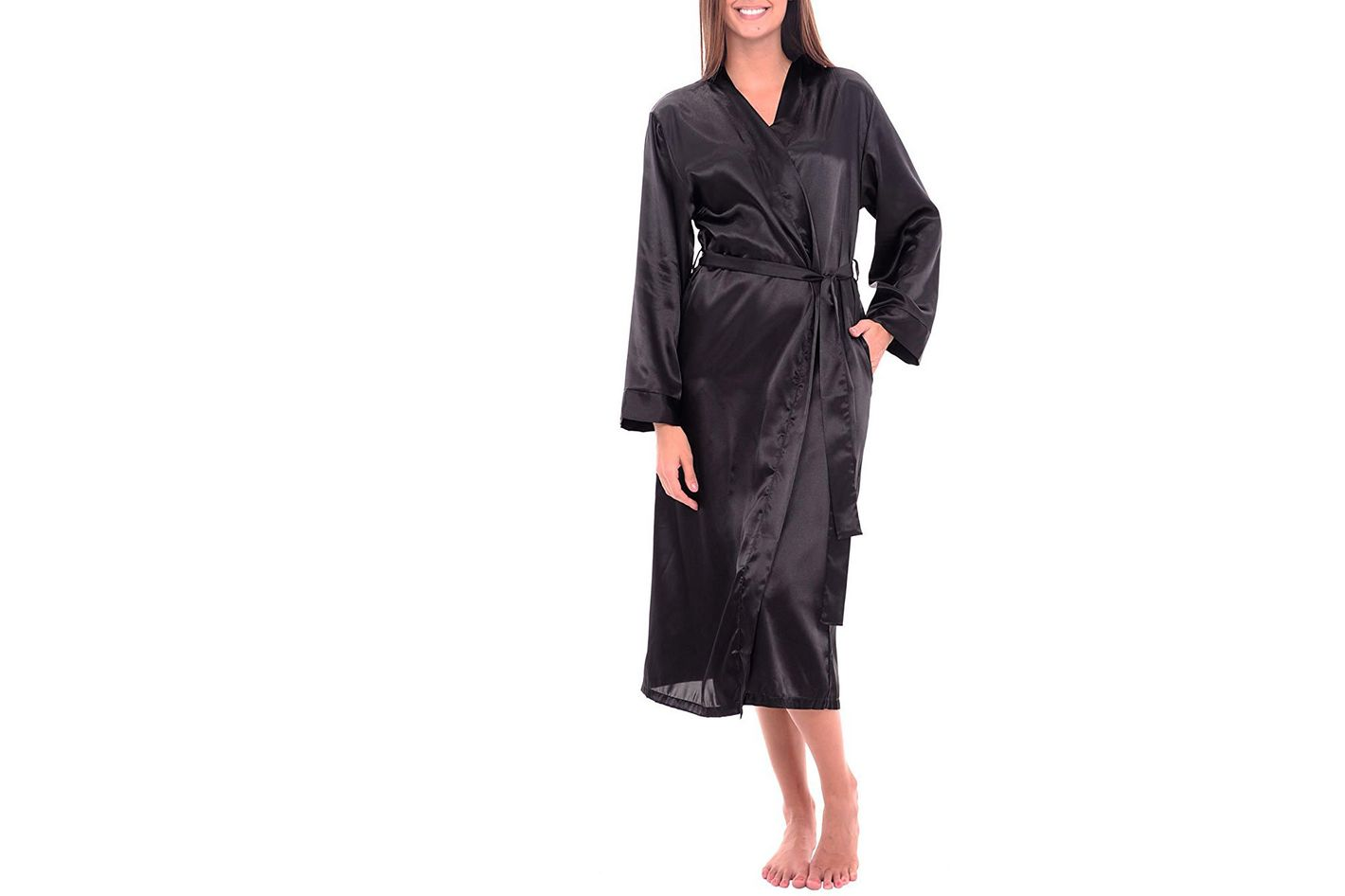 a18e96c04b The Best Satin Bathrobe. Del Rossa Women s Satin Robe
