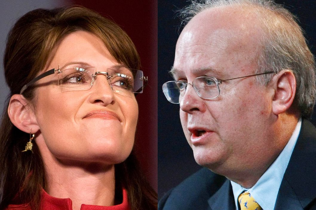 Sarah Palin and Karl Rove: Not friends.