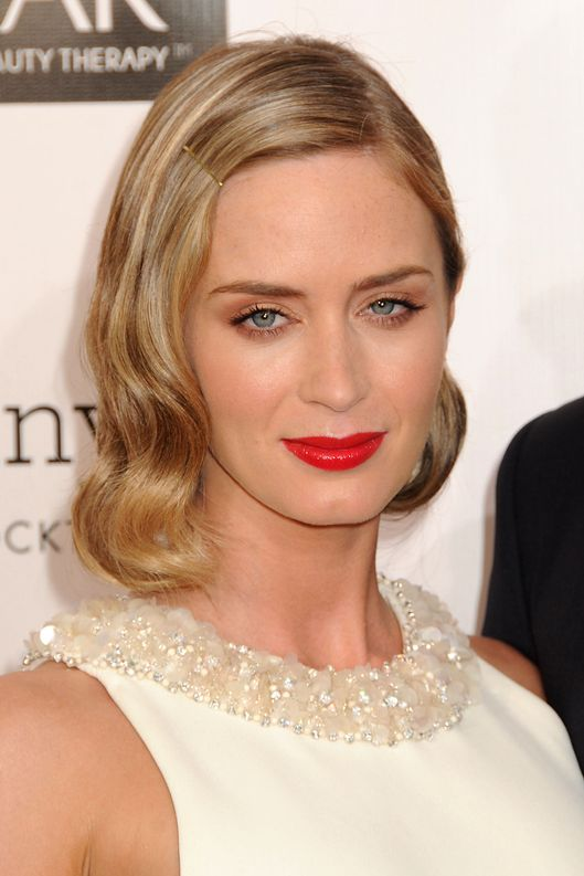 10 January 2013 - Santa Monica, California - Emily Blunt. 18th Annual Critics' Choice Movie Awards - Arrivals held at Barker Hangar.