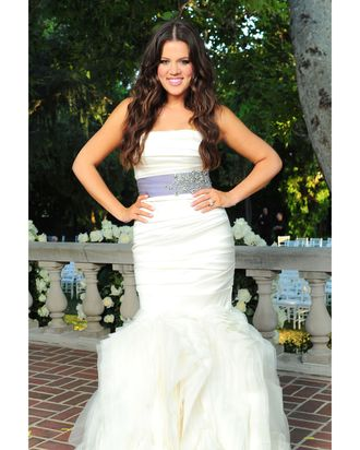Khloe Kardashian's Vera Wang wedding dress.