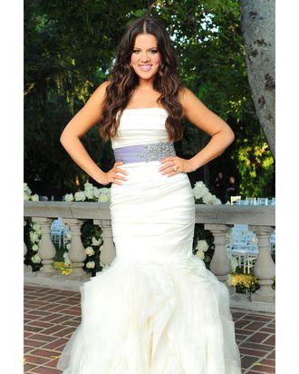 Khloe Kardashian's Vera Wang wedding dress.