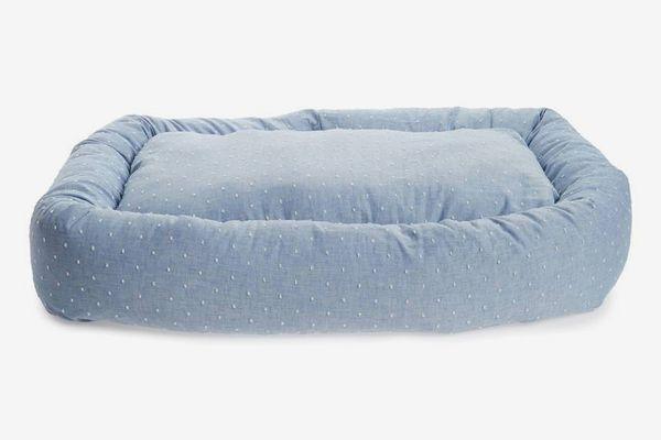 Waggo Woven Dot Snuggler Dog Bed