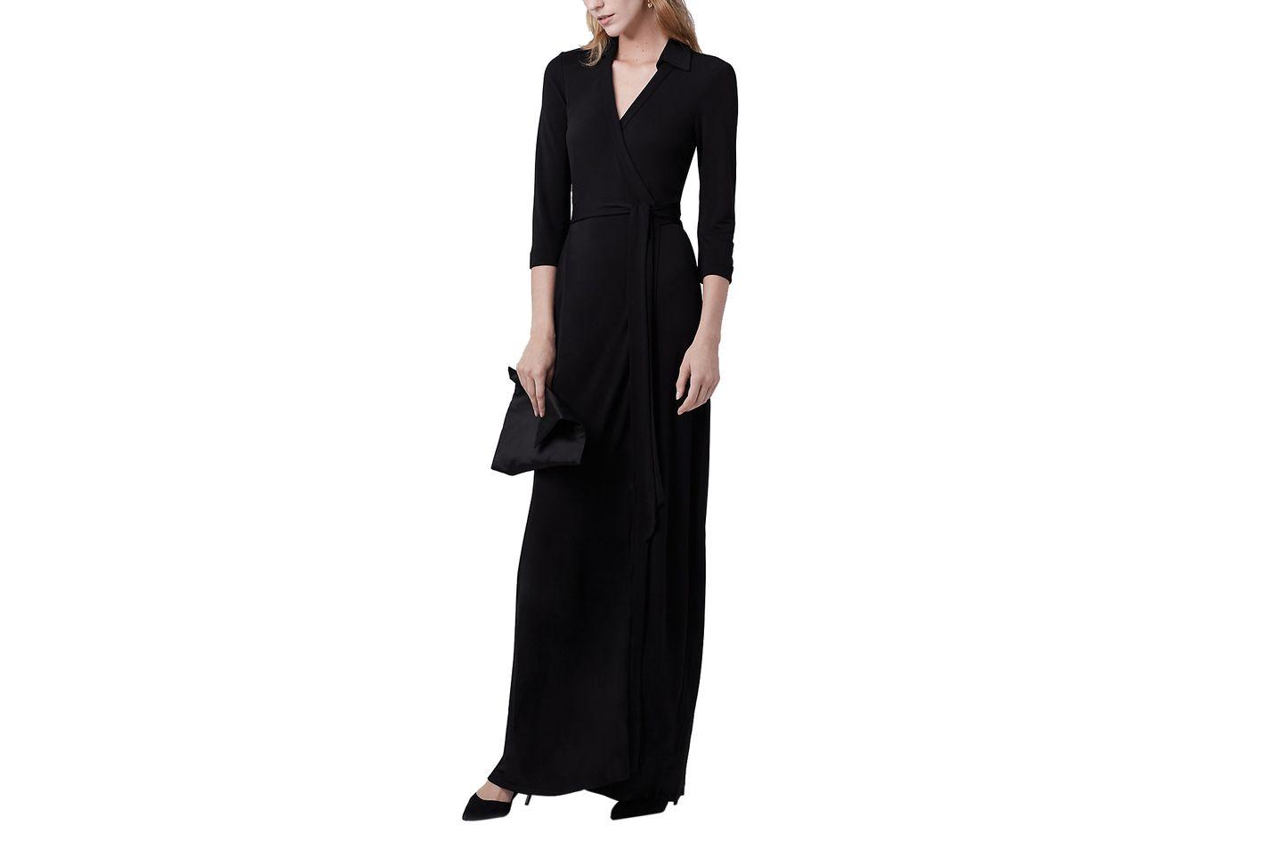 Diane von Furstenberg Abigail Maxi Jersey Wrap Dress