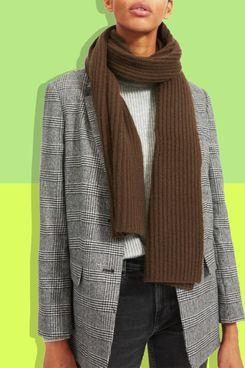 Everlane Soft Wool Rib Scarf, Peat