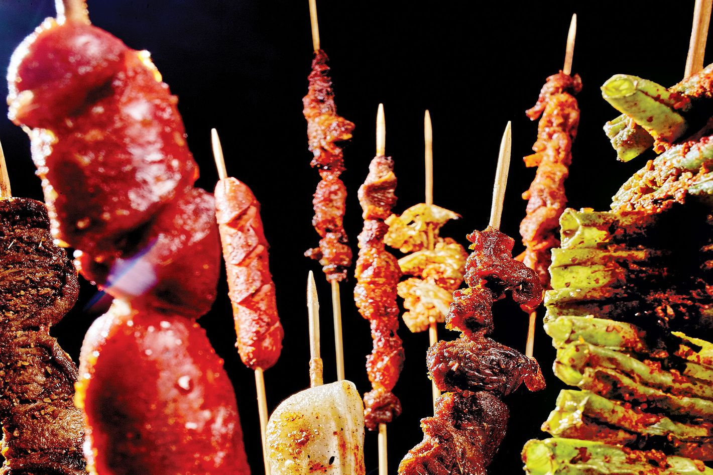 Taste of Northern China's skewers.
