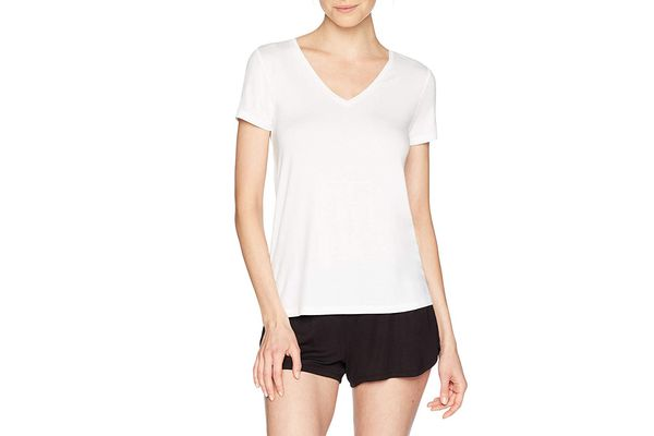 Mae Women's V-Neck Short Sleeve Lounge T-Shirt