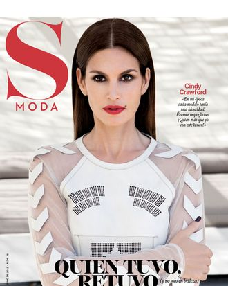 Cindy Crawford for <em>S Moda</em>.