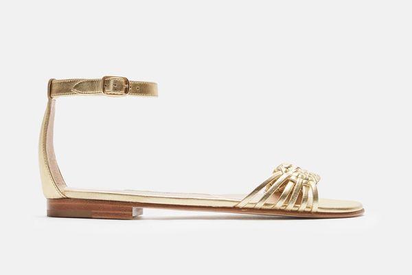 Manolo Blahnik Chafla Braided Flat Sandal
