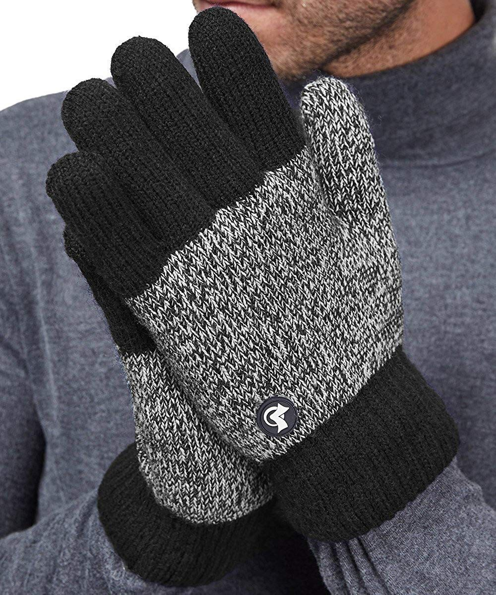 LETHMIK Thick Fleece Knit Winter Gloves