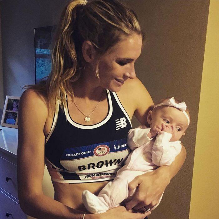 Sarah Brown with daughter Abigail.