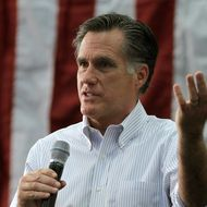 Republican presidential candidate, former Massachusetts Gov. Mitt Romney speaks during a campaign rally at Capital University on February 29, 2012