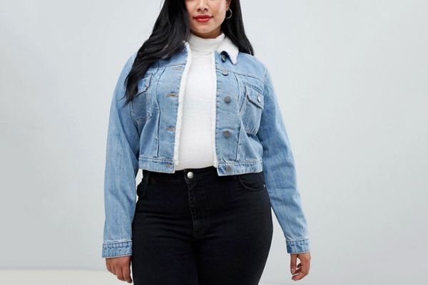 ASOS Design Curve Denim Shrunken Jacket