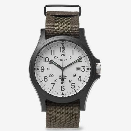 Timex Acadia Resin And Grosgrain Watch - Green