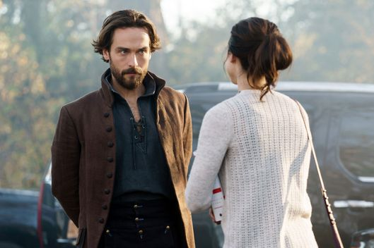 "SLEEPY HOLLOW: L-R: Tom Mison and Maya Kazan in the ""Kindred Spirits"" episode of SLEEPY HOLLOW airing Friday, Feb. 19 (8:00-9:01 PM ET/PT) on FOX. ©2016 Fox Broadcasting Co. Cr: Tina Rowden/FOX"
