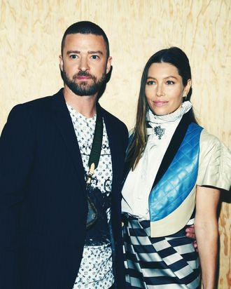 Justin Timberlake and Jessica Biel.