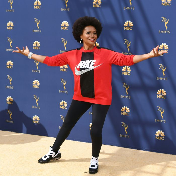 39c61d19597c4 Black-ish's Jenifer Lewis Flaunts Head-to-Toe Nike on Emmys Red Carpet