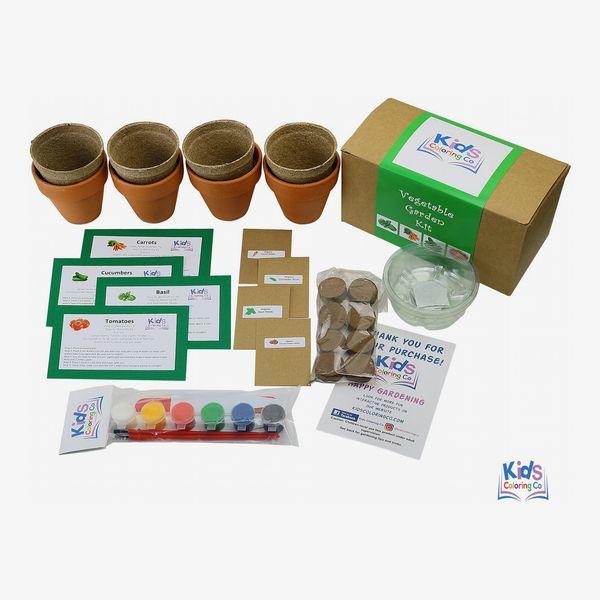 Kids Coloring Co. Vegetable Garden Kit