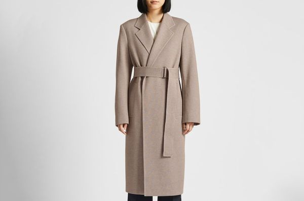 Women U Jersey Belted Chester Coat