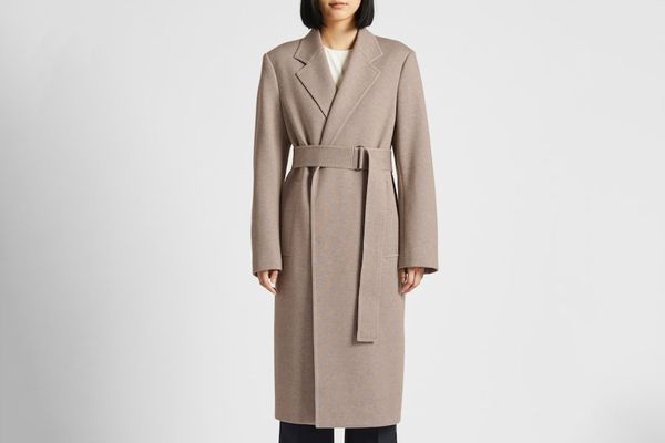 Women U Jersey Belted Chester Coat