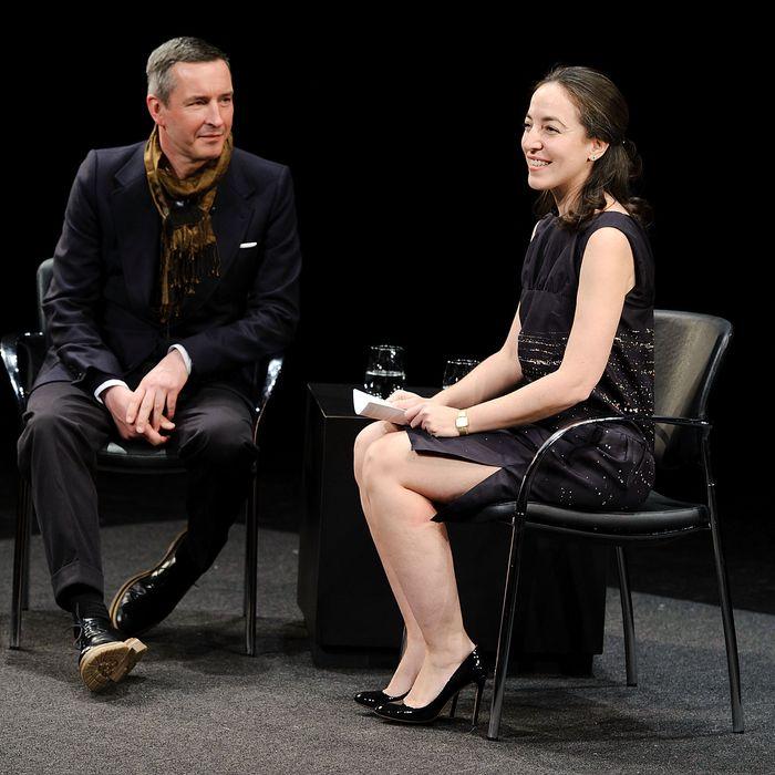 Dries Van Noten and Moderator Pamela Golbin at FIAF's Fashion Talks Series