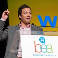 NEW YORK, NY - JUNE 07:  Jimmy Fallon speaks on stage during the 2012 Book Expo America: Adult Book & Author Breakfast at Jacob K. Javits Convention Center on June 7, 2012 in New York City.  (Photo by D Dipasupil/Getty Images)