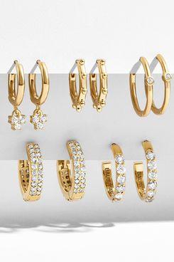 Baublebar Liza 18K Gold Vermeil Huggie Hoop
