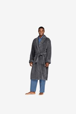 Lands' End Men's Turkish Terry Cloth Robe with Pockets